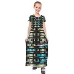 Architectural Design Architecture Building Cityscape Kids  Short Sleeve Maxi Dress by Pakrebo