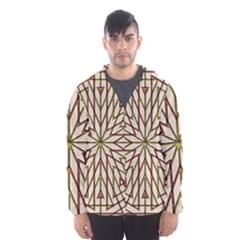 Kaleidoscope Triangle Men s Hooded Windbreaker