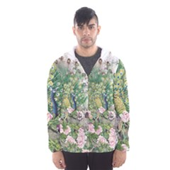 Peafowl Peacock Feather Beautiful Men s Hooded Windbreaker by Sudhe