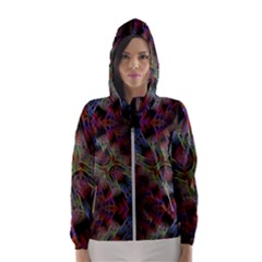 Abstract Animated Ornament Background Fractal Art Women s Hooded Windbreaker