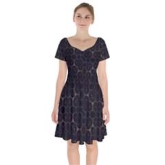 Abstract Animated Ornament Background Fractal Art Short Sleeve Bardot Dress by Wegoenart