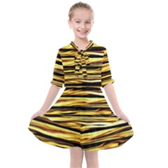 Texture Wood Kids  All Frills Chiffon Dress by AnjaniArt