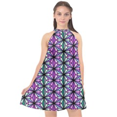 Triangle Seamless Halter Neckline Chiffon Dress  by Mariart