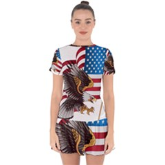 American Eagle Clip Art Drop Hem Mini Chiffon Dress