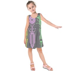 Background Non Seamless Pattern Kids  Sleeveless Dress by Simbadda