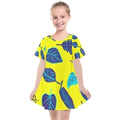 Leaves Pattern Picture Detail Kids  Smock Dress by Simbadda