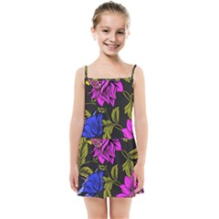 Botany Floral Flower Plant Petals Kids  Summer Sun Dress by Simbadda
