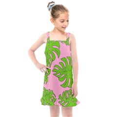 Leaves Tropical Plant Green Garden Kids  Overall Dress by Simbadda
