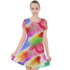 Colorful Watercolors                 Caught In A Web Dress