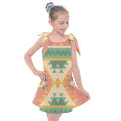 Shapes In Pastel Colors                 Kids  Tie Up Tunic Dress by LalyLauraFLM