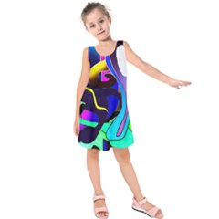 Curvy Collage Kids  Sleeveless Dress by bloomingvinedesign