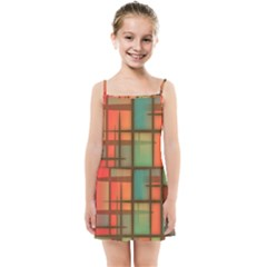 Chaos In Red And Green Kids  Summer Sun Dress