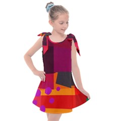 Colorful Abstract  Kids  Tie Up Tunic Dress by TimelessFashion