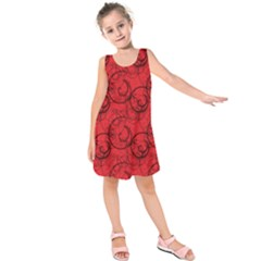 Curly In Red Kids  Sleeveless Dress