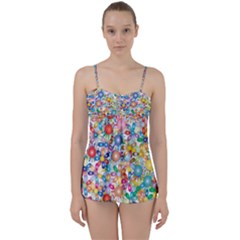 Flower Field Babydoll Tankini Set by TimelessFashion