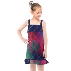 Fractal Artwork Abstract Background Kids  Overall Dress by Sudhe