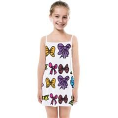 Bows Cartoon Ribbon Kids  Summer Sun Dress by Bajindul
