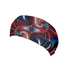 Abstract Fractal Artwork Colorful Art Yoga Headband by Sudhe