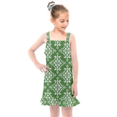 Green Damask Kids  Overall Dress by TimelessFashion