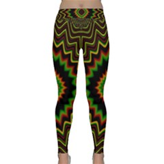 Fractal Artwork Idea Allegory Abstract Classic Yoga Leggings by Sudhe