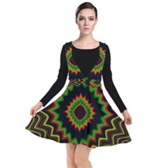 Fractal Artwork Idea Allegory Abstract Plunge Pinafore Dress