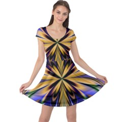 Artwork Fractal Allegory Art Cap Sleeve Dress
