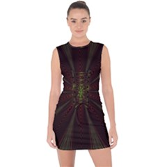 Fractal Artwork Idea Allegory Lace Up Front Bodycon Dress
