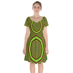 Fractal Artwork Idea Allegory Short Sleeve Bardot Dress