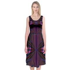 Abstract Abstract Art Fractal Midi Sleeveless Dress