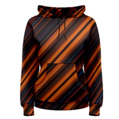 Background Pattern Lines Women s Pullover Hoodie