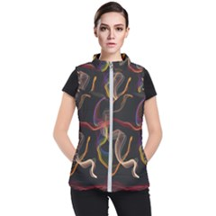 Abstract Smoke                     Women s Puffer Vest by LalyLauraFLM