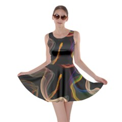 Abstract Smoke                      Skater Dress