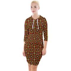 Rby 3 7 Quarter Sleeve Hood Bodycon Dress