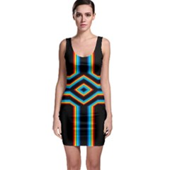 Cross Abstract Neon Bodycon Dress