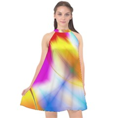 Color Concept Colors Colorful Halter Neckline Chiffon Dress