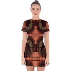Art Fractal Artwork Creative Drop Hem Mini Chiffon Dress by Pakrebo