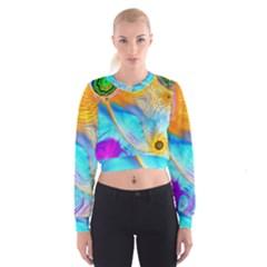 Artwork Digital Art Fractal Colors Cropped Sweatshirt by Pakrebo