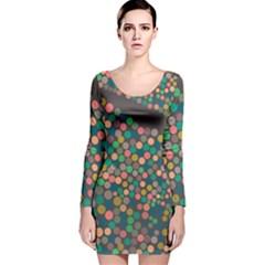 Zappwaits Art Long Sleeve Velvet Bodycon Dress by zappwaits