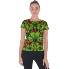 Abstract Art Fractal Artwork Short Sleeve Sports Top  by Pakrebo