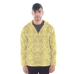 Flowers Decorative Ornate Color Yellow Men s Hooded Windbreaker by pepitasart