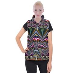 Abstract Art Artwork Fractal Design Women s Button Up Vest