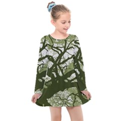 Into The Forest 11 Kids  Long Sleeve Dress