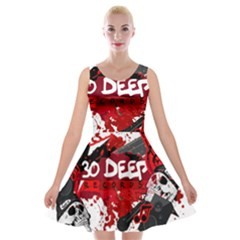 Explosion Velvet Skater Dress by Thirtydeep
