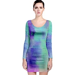 Watercolor Wash Long Sleeve Bodycon Dress by blkstudio