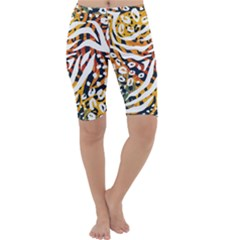 Modern Abstract Animal Print Cropped Leggings  by tarastyle
