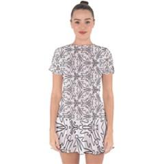 Pattern Design Pretty Cool Art Drop Hem Mini Chiffon Dress by Wegoenart