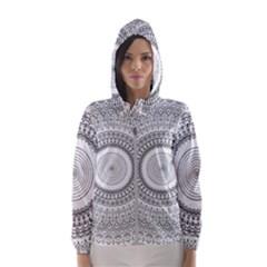 Pattern Design Pretty Cool Art Women s Hooded Windbreaker