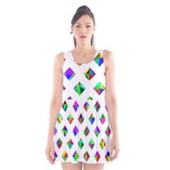 Rainbow Lattice Scoop Neck Skater Dress by Mariart