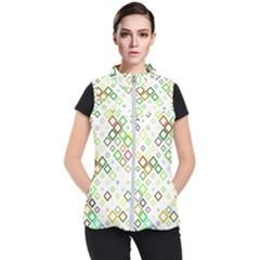 Square Colorful Geometric Women s Puffer Vest
