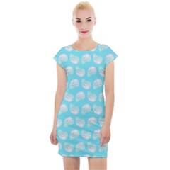 Glitched Candy Skulls Cap Sleeve Bodycon Dress by VeataAtticus